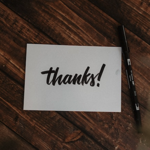 Jeff Russell Thank you notes